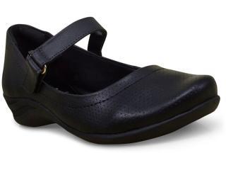 Sapato Feminino Comfortflex 17-55302 Preto - Tamanho Médio