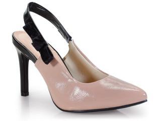 Sapato Feminino Dakota B9813 Noz/preto - Tamanho Médio