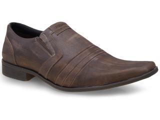 Sapato Masculino Ferracini 4418 Metropolis Chocolate Estonado - Tamanho Médio
