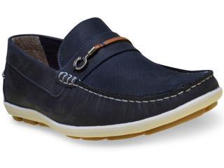 Sapato Masculino Ferricelli Yn46235 Azul/camel - Tamanho Médio