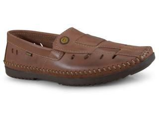 Sapato Masculino Free Way Logan-2 Wax Havana - Tamanho Médio
