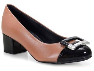 Sapato Feminino Modare 7316107 Nude/preto - Tamanho Médio
