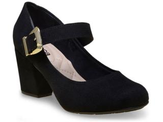 Sapato Feminino Moleca 5300103 Preto - Tamanho Médio