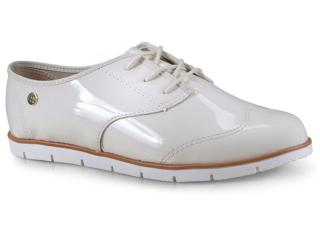Sapato Feminino Moleca 5613304 Off White - Tamanho Médio