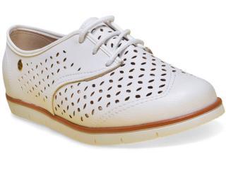 Sapato Feminino Moleca 5613205 Branco - Tamanho Médio