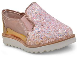 f5d1172d59e Sapato Fem Infantil Molekinha 2510100 Multi Branco ouro Rosado