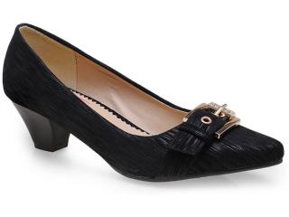 Sapato Feminino Mooncity 61505 Preto - Tamanho Médio