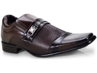Sapato Masculino Ped Shoes 50901-b  Café Kit c/ Carteira e Cinto - Tamanho Médio