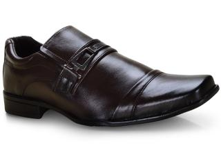 Sapato Masculino Ped Shoes 50910-b Café Kit c/ Carteira e Cinto - Tamanho Médio