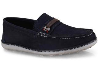 Sapato Masculino Pegada 141103-07 Azul/coffe - Tamanho Médio