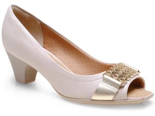 Sapato Feminino Piccadilly 714025 Gris/ouro - Tamanho Médio
