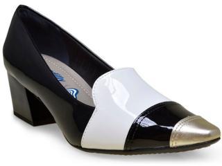 Sapato Feminino Piccadilly 744019 Preto/branco - Tamanho Médio