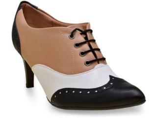 Sapato Feminino Piccadilly 745030 Preto/capuccino/branco - Tamanho Médio