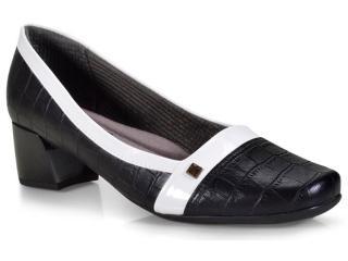 Sapato Feminino Piccadilly 320269 Preto/branco - Tamanho Médio