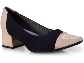 Sapato Feminino Piccadilly 744063 Marfim/preto - Tamanho Médio