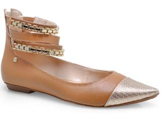 Sapato Feminino Pienza Ex831726 Caramelo/dourado - Tamanho Médio