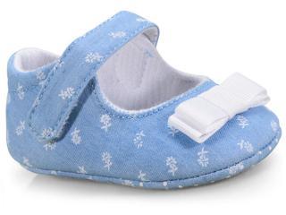 Sapato Fem Infantil Pimpolho 73579c Jeans - Tamanho Médio