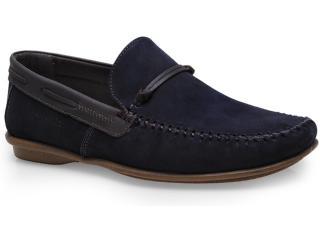 Sapato Masculino Rafarillo 1507 Marinho/castanho - Tamanho Médio