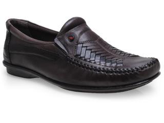 Sapato Masculino Rafarillo 1609 Castanho/preto - Tamanho Médio