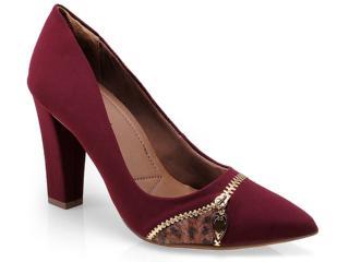Sapato Feminino Ramarim 14-46103 Vinho/chocolate - Tamanho Médio