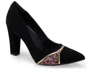 Sapato Feminino Ramarim 14-46103 Preto/chocolate - Tamanho Médio