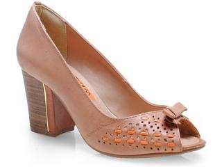 Sapato Feminino Ramarim 14-93205 Caramelo/laranja - Tamanho Médio