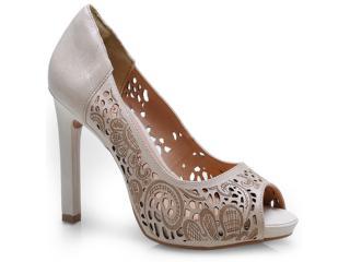 Sapato Feminino Ramarim 14-22204 Creme - Tamanho Médio