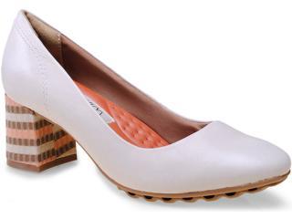 Sapato Feminino Ramarim 15-94101 Creme/pêssego - Tamanho Médio