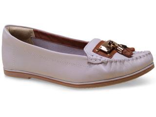 Sapato Feminino Ramarim 15-81104 Creme/caramelo - Tamanho Médio
