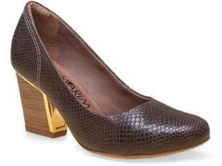 Sapato Feminino Ramarim 14-95101 Marrom - Tamanho Médio