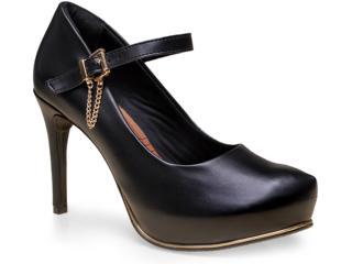 Sapato Feminino Ramarim 15-40103 Preto - Tamanho Médio