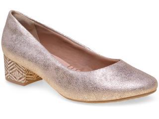 Sapato Feminino Ramarim 15-43101 Ouro - Tamanho Médio
