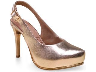Sapato Feminino Ramarim 15-40202 Champagne - Tamanho Médio