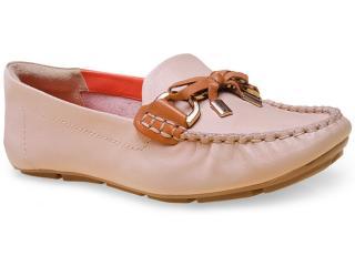Sapato Feminino Ramarim 15-87206 Amendoa/caramelo - Tamanho Médio
