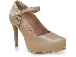 Sapato Feminino Ramarim 15-40103 Amendoa - Tamanho Médio