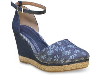 Sapato Feminino Ramarim 16-66102 Jeans - Tamanho Médio