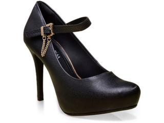 Sapato Feminino Ramarim 16-40103 Preto - Tamanho Médio