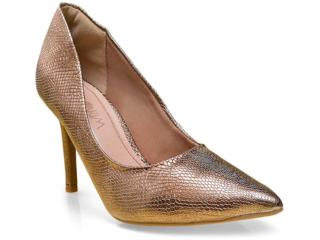 Sapato Feminino Ramarim 16-23101 Bronze - Tamanho Médio