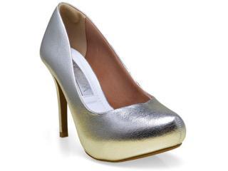 Sapato Feminino Ramarim 16-40201 Prata - Tamanho Médio