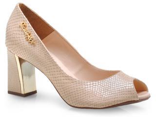Sapato Feminino Seculo Xxx 1010-10940 Blush/nude/bege/ouro - Tamanho Médio