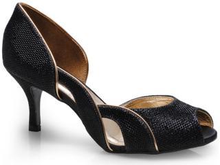 Sapato Feminino Seculo Xxx 941-20174 Preto/ouro - Tamanho Médio