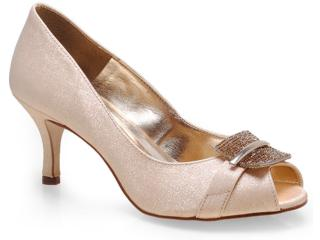 Sapato Feminino Seculo Xxx 941-20170 Champanhe/ouro - Tamanho Médio