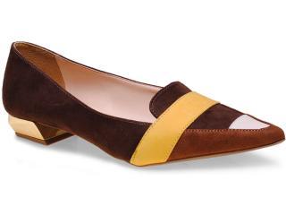 Sapato Feminino Seculo Xxx 1059.20713 Café/amarelo - Tamanho Médio