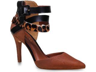Sapato Feminino Tanara 6882 Caramelo/preto - Tamanho Médio