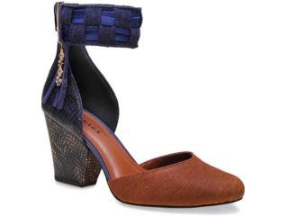 Sapato Feminino Tanara 7041 Caramelo/azul - Tamanho Médio