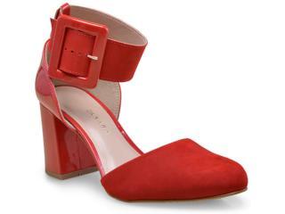 Sapato Feminino Tanara 0123 Vermelho - Tamanho Médio