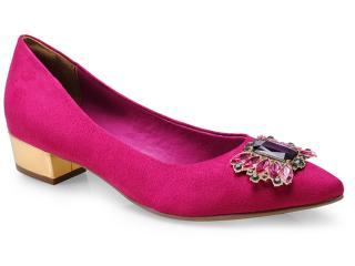 Sapato Feminino Via Marte 14-3801 Magenta/ouro - Tamanho Médio