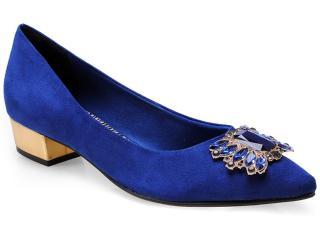 Sapato Feminino Via Marte 14-3801 Noite/ouro - Tamanho Médio