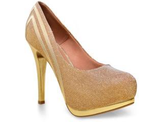 Sapato Feminino Vizzano 1157316 Ouro - Tamanho Médio