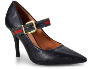 Sapato Feminino Vizzano 1184175 Preto/verde Escuro/vermelho - Tamanho Médio
